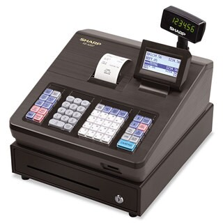 Sharp XE Series Electronic Cash Register Thermal Printer 2500 Lookup 25 Clerks LCD