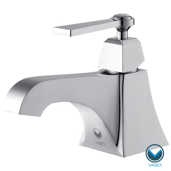 VIGO Plutus Single Handle Bathroom  Faucet in Chrome