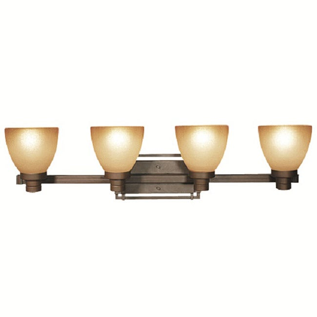 shop woodbridge lighting wayman 4 light bronze bath bar light rh overstock com Bronze Light Fixtures for Over Medicine Cabinet Antique Bronze Bathroom Light Fixtures