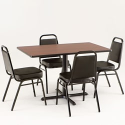 Holland Bar Stool Black Commercial Dining Set