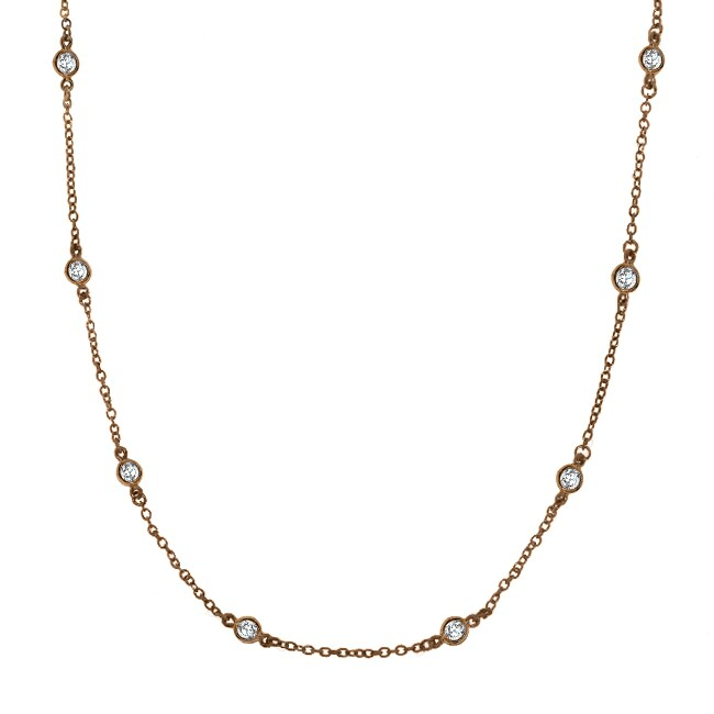 Sterling Silver Cubic Zirconia 24-inch By-the-yard Necklace