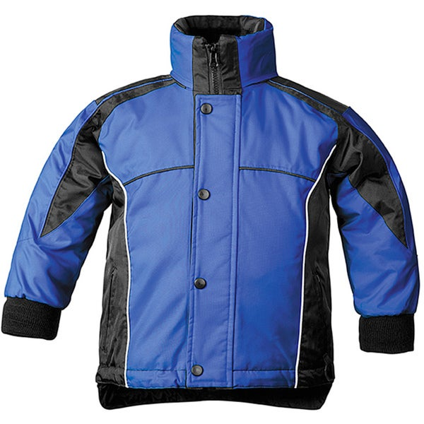 Sledmate Youth Blue/Black Nylon Fleece-lined Jacket with Taped Seams