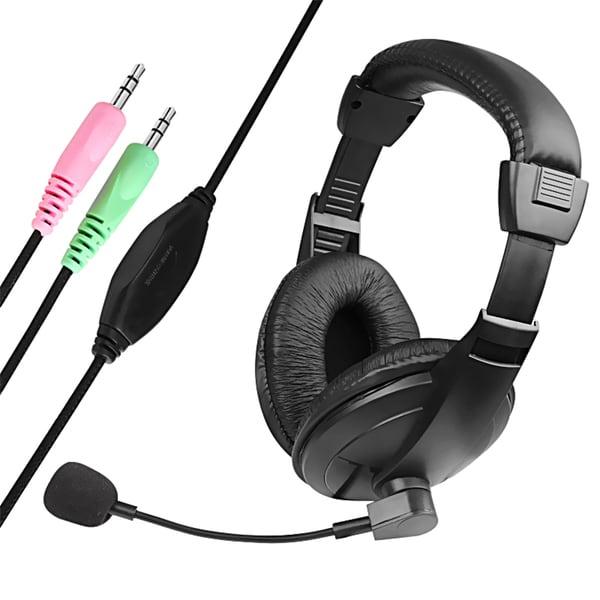 Insten Black VOIP/ SKYPE Hands-free Headphone Headset with Adjustable Volume Microphone