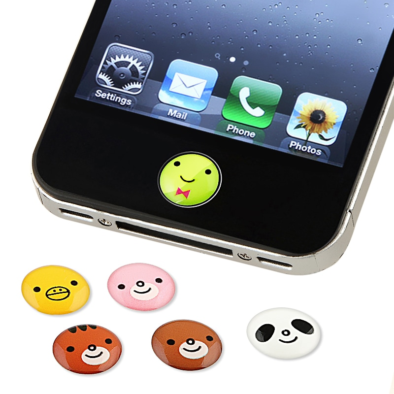 INSTEN Animal Home Button Sticker for iPhone/ iPad/ iPod Touch (Pack of 6) - Thumbnail 0