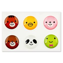 INSTEN Animal Home Button Sticker for iPhone/ iPad/ iPod Touch (Pack of 6) - Thumbnail 1