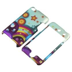 INSTEN Star Rainbow Snap-on Rubber Coated iPod Case Cover for Apple iPod Touch 4th Gen - Thumbnail 1