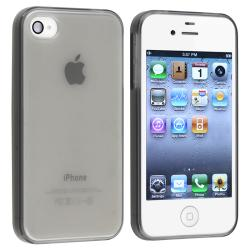 Clear Frost Smoke TPU Rubber Skin Case for Apple iPhone 4/ 4S - Thumbnail 1