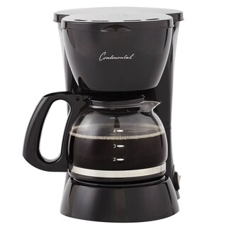 Continental Coffee Maker 4-Cup Glass Carafe Black