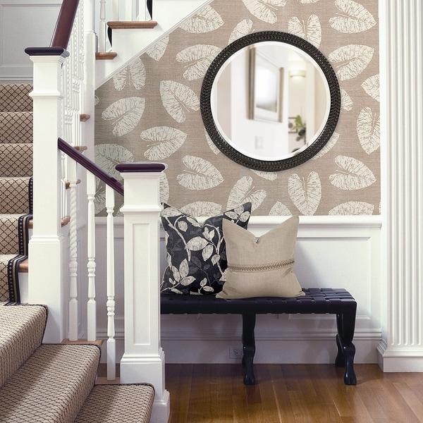 Shop Amalie Black Herringbone Round Wall Mirror - Antique ...