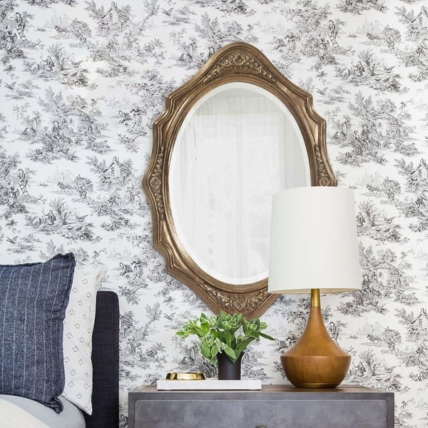 Tracy Silver Wood Oval Wall Mirror. Opens flyout.