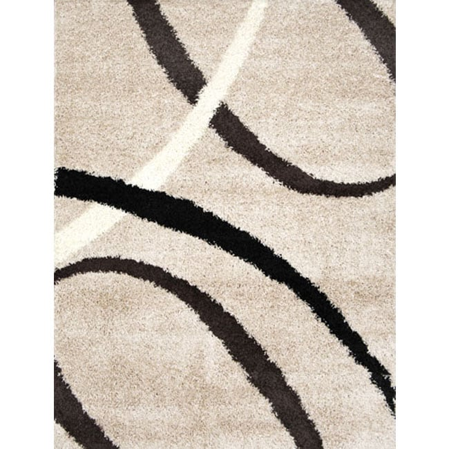 Home Dynamix Synergy Collection Beige Machine Made Polypropylene Area Rug (4'9 x 6'6)