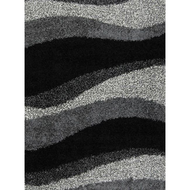 home dynamix synergy collection black grey machine made polypropylene area rug 66 black white rug home