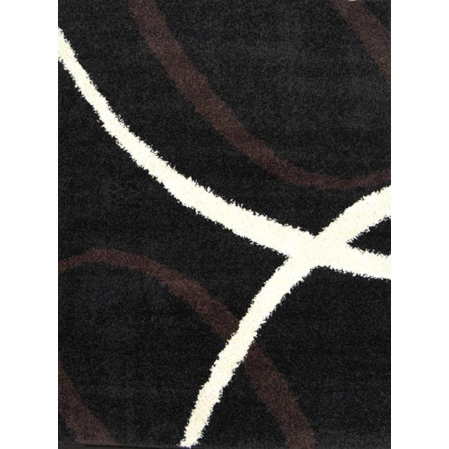 Home Dynamix Synergy Collection Contemporary Brown Area Rug (4'9 x 6'6)