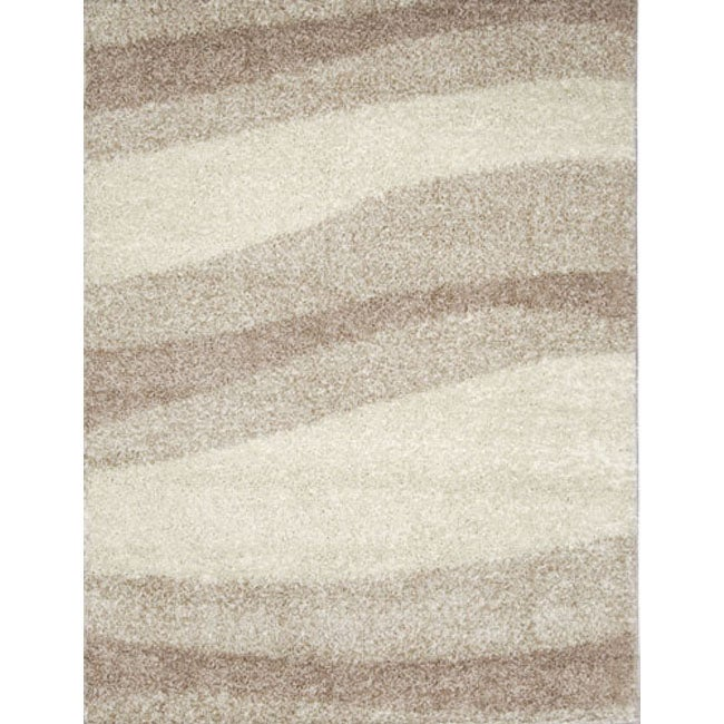 Home Dynamix Synergy Collection Ivory-Beige Machine Made Polypropylene Area Rug (6'6 x 9'8)