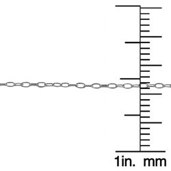 Fremada Sterling Silver Cable Link Chain Necklace (18-inch) - Thumbnail 2