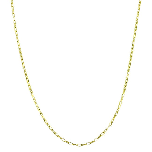 Fremada Goldplated Sterling Silver 18-Inch Cable Link Chain Necklace