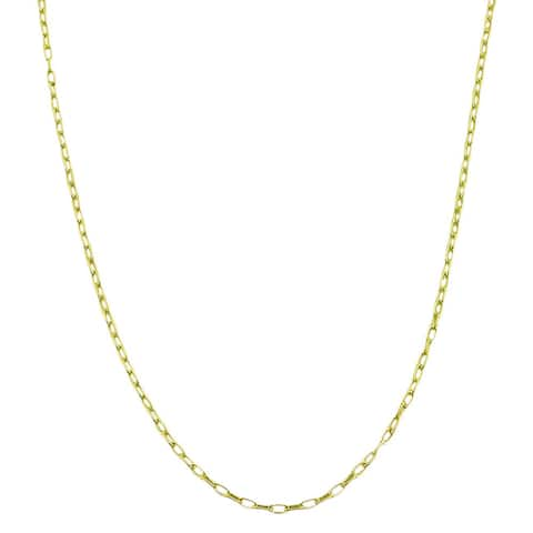 Fremada 14k Goldplated Sterling Silver 18-inch Cable Link Chain Necklace