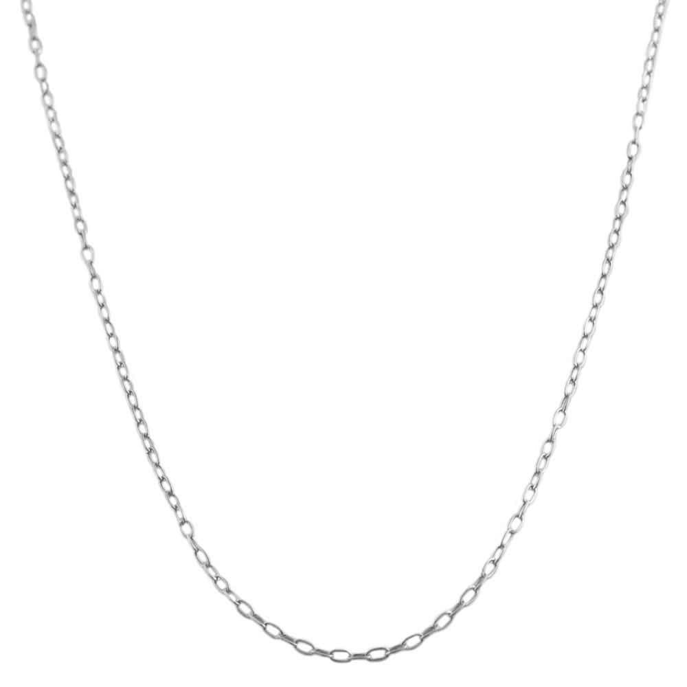 Fremada Sterling Silver 16-inch Cable Link Chain Necklace