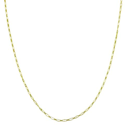 Fremada 14k Goldplated Sterling Silver 18-inch Alternate Link Chain Necklace
