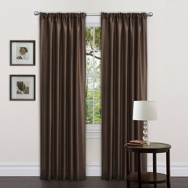 Lush Decor Chocolate Sienna Curtain Panels (Set of 2)