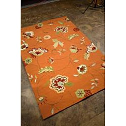 Hand-Hooked Floral Rug (2' x 3')
