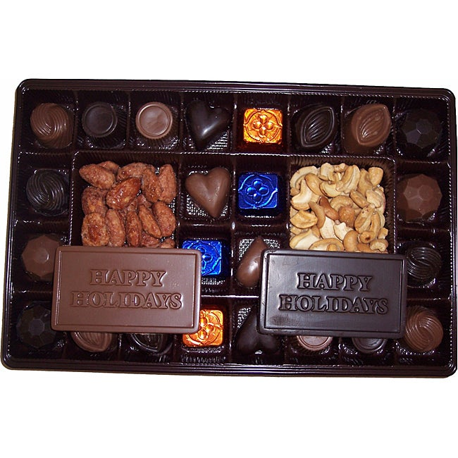 Lang's Chocolates 52-pc Happy Holiday Assorted Milk and Dark Chocolates - Thumbnail 0