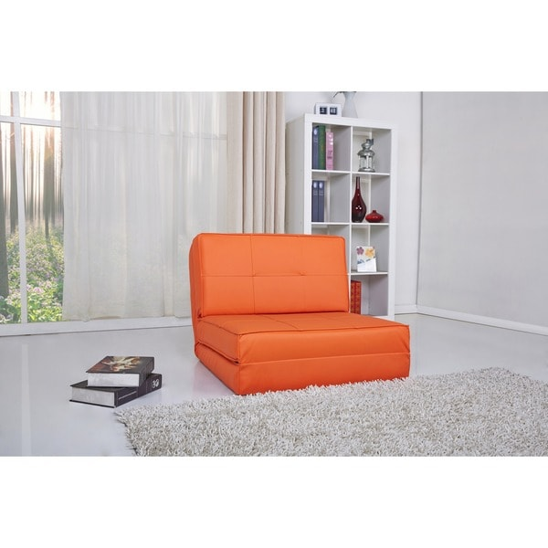 Baltimore Orange Convertible Chair Bed