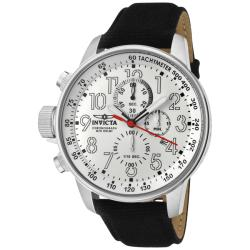 Invicta Men's 'Force' Black Leather Fashion Watch