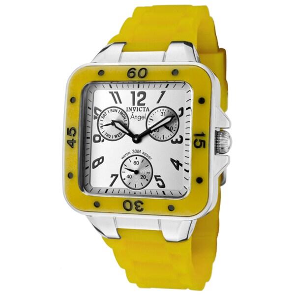 Invicta Women's 'Angel' Yellow Green Polyurethane Watch