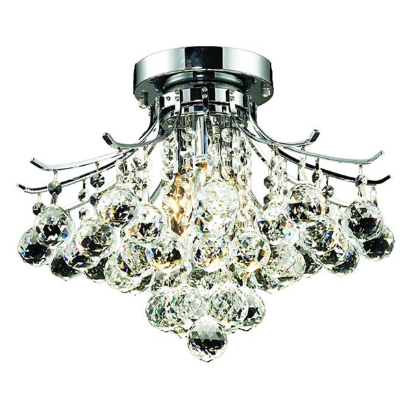 Somette 3-light Chrome Flush-Mount Chandelier