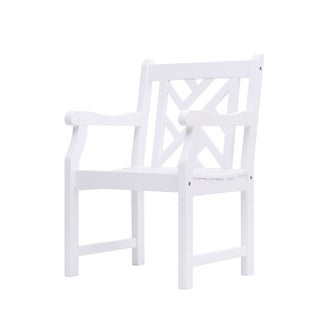 Bradley Outdoor Cross-back Wood Arm Chair
