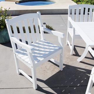 Bradley Outdoor Slat-Back Wood Armchair - Thumbnail 0