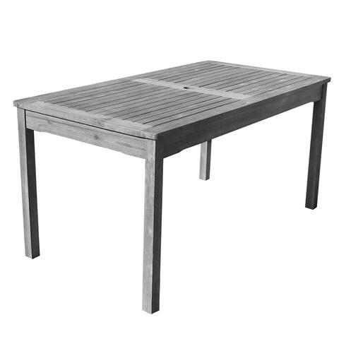 Havenside Home Surfside Outdoor Hand-scraped Hardwood Rectangular Table