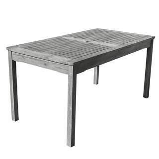 The Gray Barn Bluebird Outdoor Hand-scraped Hardwood Rectangular Table