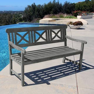 Renaissance Weather-Resistant Outdoor Hand-Scraped Hardwood Bench|https://ak1.ostkcdn.com/images/products/6434363/P14037715.jpg?impolicy=medium