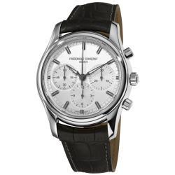 Frederique Constant Men's 'Peking to Paris' Silver Chrono Dial Watch