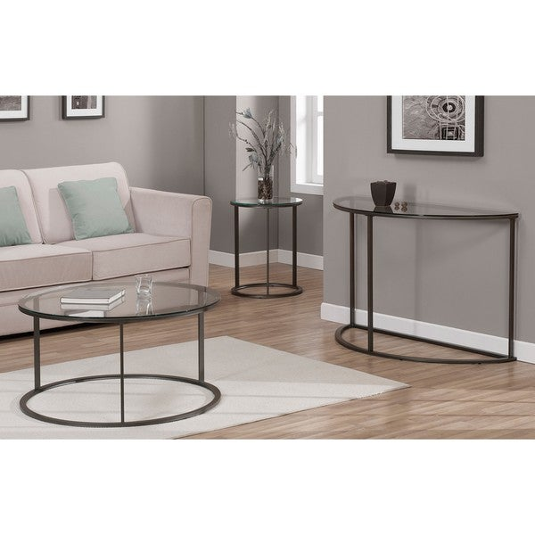 Round Glass Top Metal Coffee Table Free Shipping Today Overstock Com 14037744