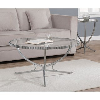 Scalloped Metal Coffee Table