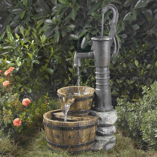 Old Fashioned Water Pump Fountain. Opens flyout.