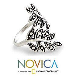 Sterling Silver 'Near You' Wrap Ring (Indonesia)