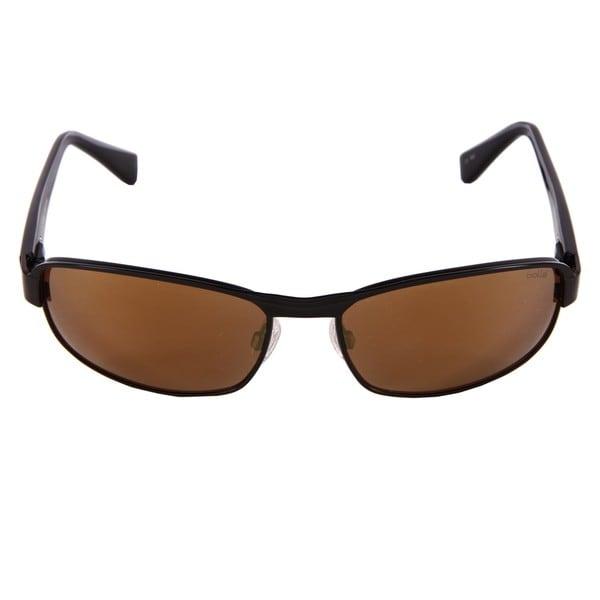 Bolle Men's'Malcolm' Satin Black Plastic Polarized Fashion Sunglasses
