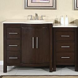 shop silkroad exclusive stone counter top bathroom single sink cabinet vanity lavatory 54 inch