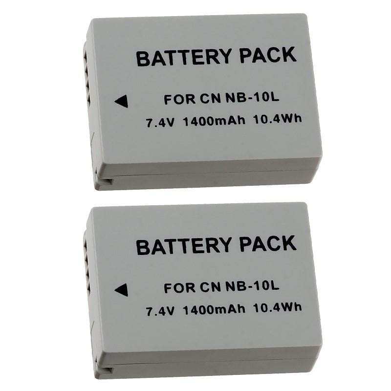 Insten Compatible Li Ion Battery For Canon Nb 10l Pack Of
