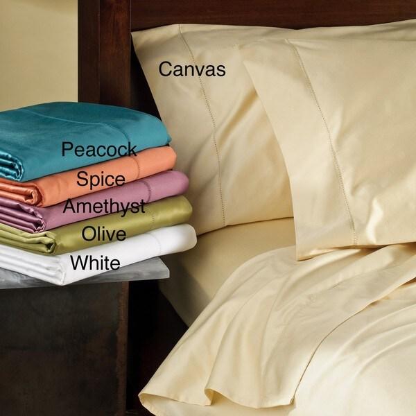Egyptian Cotton Hemstich Sateen 500 Thread Count Sheet Set