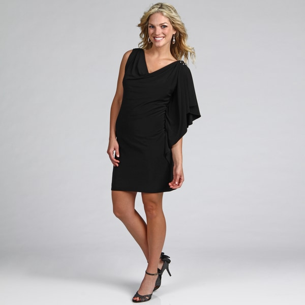 Jessica Howard Women's Beaded Drape Dress