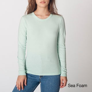 American Apparel Women's Fine Jersey Long-sleeve T-shirt