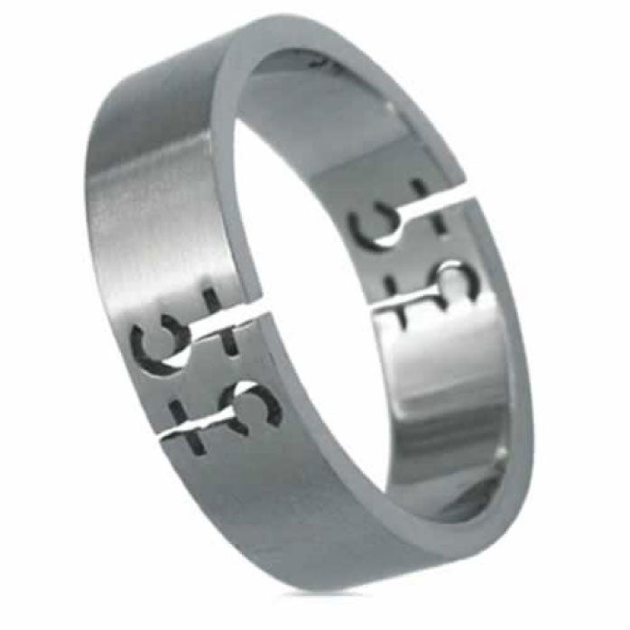 Stainless Steel Female Symbol Gay Pride Brushed Band