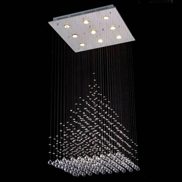 Gallery Modern Crystal 9-Light Chandelier