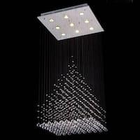 Gallery Modern Crystal 9-Light Chandelier