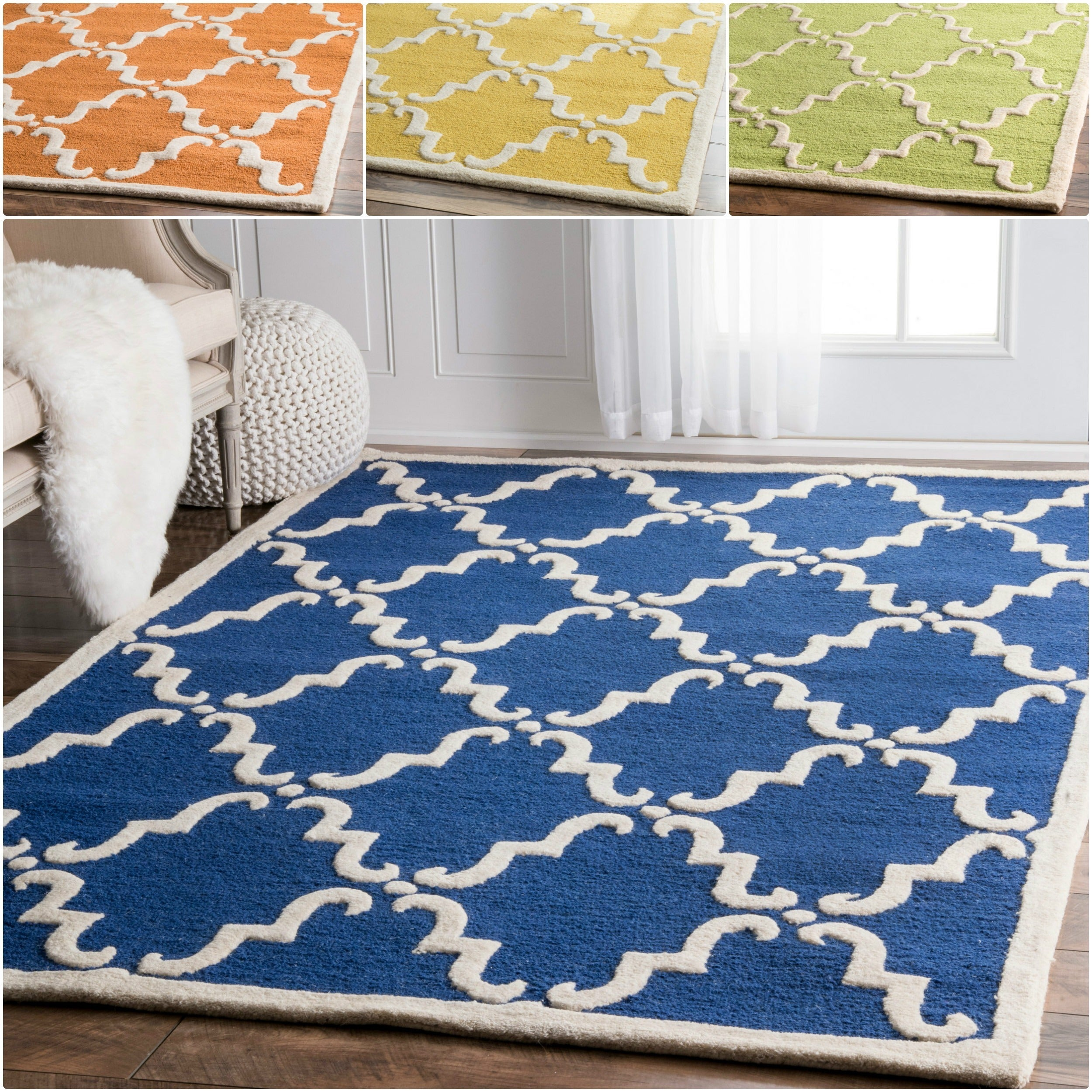 a4818e8ac9f Shop nuLOOM Handmade Luna Marrakesh Trellis Wool Rug (5  x 8 ) - Free  Shipping On Orders Over  45 - Overstock - 6437411